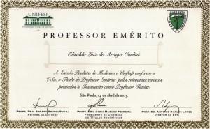 Professor Emérito E. A. Carlini